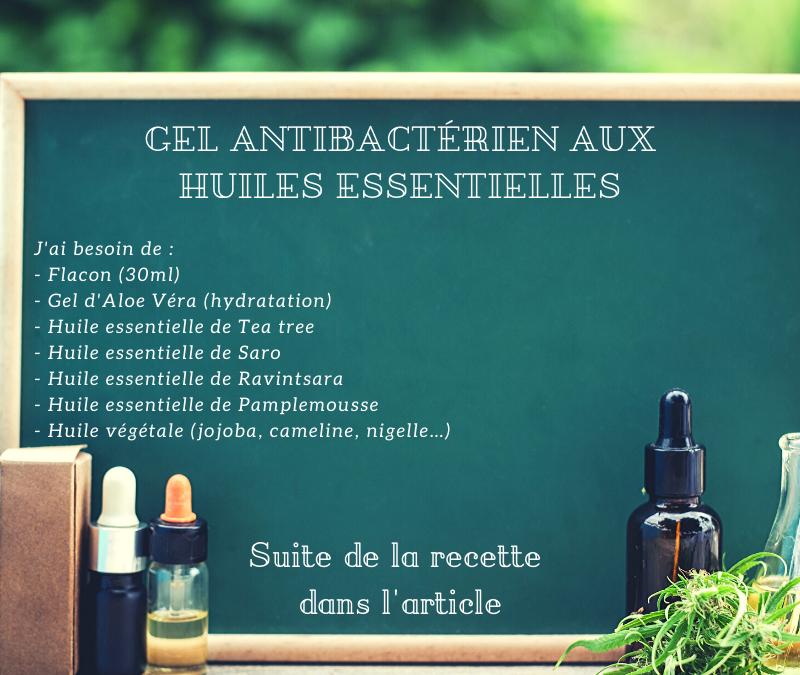Gel antibactérien aux huiles essentielles